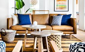 deco canape marron tapis salon bleu marron urbantrott com