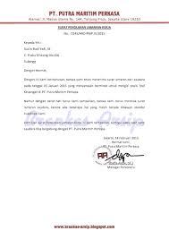 contoh surat penolakan lamaran kerja brankas arsip