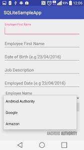 android database using a simple sqlite database in your android app