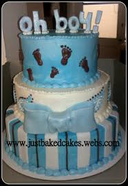 boy blue oh boy baby feet baby shower cake