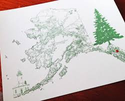 Alaska Usa Map by Turn Of The Centuries Alaska Hawaii Usa Map Drawings