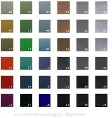 12 best images of car paint color chart auto paint color charts