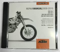 ktm 350 sx 350 exc workshop repair manual on cd 2008 2015 ebay