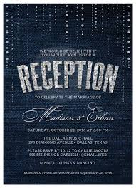 reception invitations post wedding reception only invitations denim diamonds