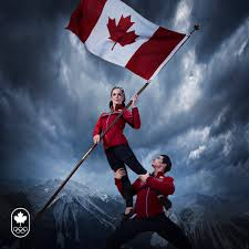 History Of Canadian Flag Canada U0027s Olympic Flag Bearer Photos Are Very Dramatic