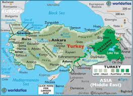 printable pictures of turkey the country turkey large color map