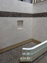 Glass Block Tile Backsplash by Admirable Decorating Ideas With Handicap Rails For Bathrooms