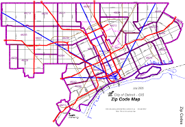 Chicago Zip Codes Map by Zip Code Map Detroit Zip Code Map