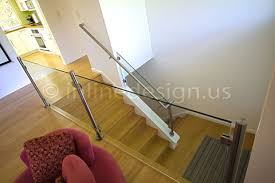Glass Handrails For Stairs Stainless Steel Glass Railing Round Stairs Lower Post Inline Design