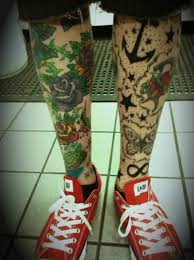 leg tattoo for men
