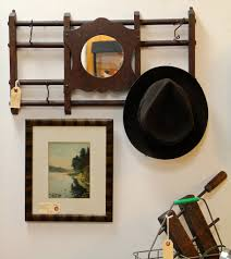 found in ithaca antique hat coat rack with mirror vintage black