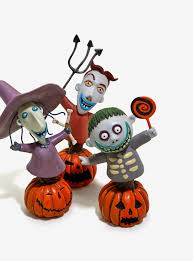 the nightmare before lock shock and barrel figurines