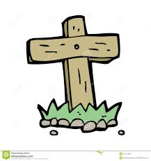 graveyard clipart cartoon wooden cross grave stock images image 37014584