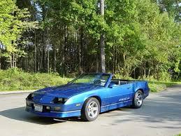 1989 z28 camaro for sale blue 1989 chevrolet camaro iroc z convertible 305 v8 for sale