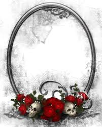 halloween frame clipart halloween transparent png frame with skulls and roses gallery