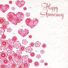 hearts and flowers anniversary card karenza paperie
