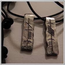 anam cara symbol soul friend anam cara ogham pewter pendant set