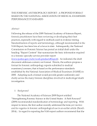 autopsy report template the forensic anthropology report a proposed format based on the the forensic anthropology report a proposed format based on the national association of medical examiners performance standardsp pdf download available