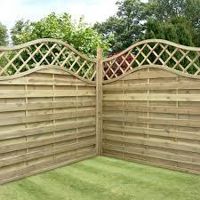 Curved Trellis Fence Panels Garden Fence Panels Woodies Margarite Gardens