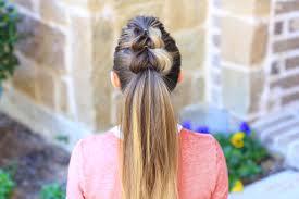 thru ponytail cute girls hairstyles