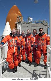 space shuttle astronaut space shuttle endeavour s astronauts in orange flight suits