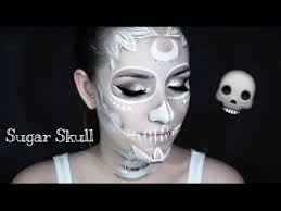 white sugar skull halloween makeup tutorial 2016 youtube