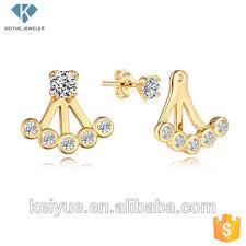 saudi arabia gold earrings saudi arabia gold plated cz cubic zirconia baby ear jacket