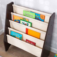 Fabric Sling Bookshelf Sling Bookshelf Natural U0026 Espresso