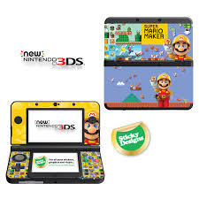 super mario maker vinyl skin sticker for new nintendo with high quality vinyl skin sticker for new nintendo with stick and replaceable cover plates depicts imagery super mario maker