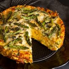 butternut squash and roast asparagus crespelle torta for a