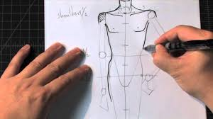 how to draw a male standing pose a fashion design lesson preview