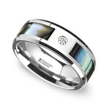 mens engagement rings red opal inlay men u0027s wedding ring in tungsten 8mm