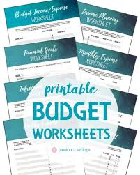 how to make a budget free budget worksheet u0026 household planner