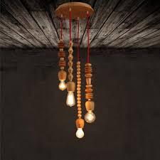wood bead ceiling light lukloy pendant light l nordic wood bead l drop light pendant