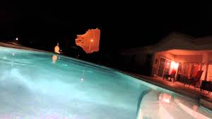 go pro in the swimming pool at night youtube