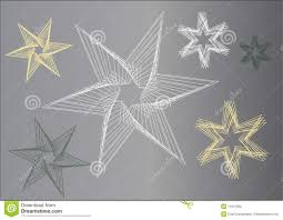 graphic stars in grey color shades stock vector image 11015962