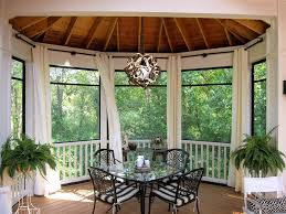 screen porch ideas with screened in stone floor outdoor dining