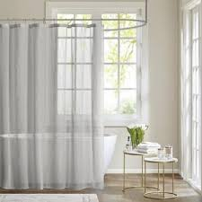 Silver And White Shower Curtain Modern Gray U0026 Silver Shower Curtains Allmodern