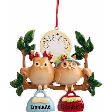 personalized christmas ornament 2 owl sisters walmart com