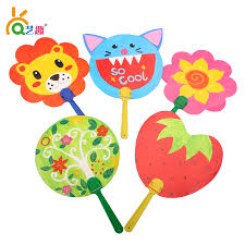 popular kids paper fan toy buy cheap kids paper fan toy lots from