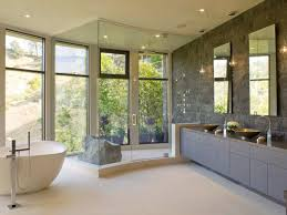 spa inspired master bathroom hgtv soothing and simple design
