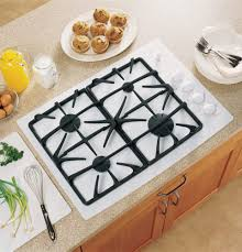 30 Gas Cooktop With Downdraft Ge Jgp940 30 Inch Gas Cooktop With 4 Sealed Burners Powerboil