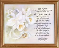 50th wedding anniversary poems 25th anniversary poem silver framed poetry gifts kootation