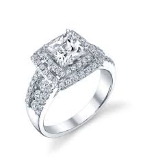 double halo princess engagement ring indianapolis rings