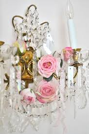 crystal sconce and roses pretty in pink pinterest crystal