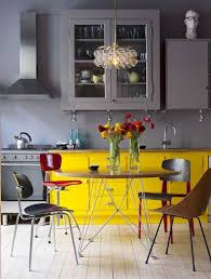 cuisine jaune et grise cuisine jaune décoration cuisine jaune