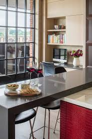 Kitchen Cabinets Washington Dc Modern Kitchen With Red Island In Washington D C
