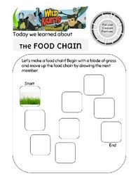 wild kratts food chain game worksheet by bks prep resources tpt