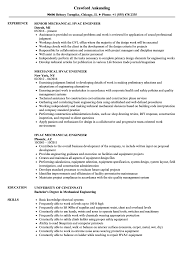 mechanical engineering resume hvac mechanical engineer resume sles velvet