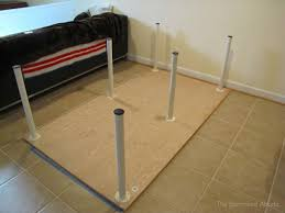 Large Table Legs by Cheap U0026 Easy Build A Large Or Tiny Sewing U0026 Crafting Table